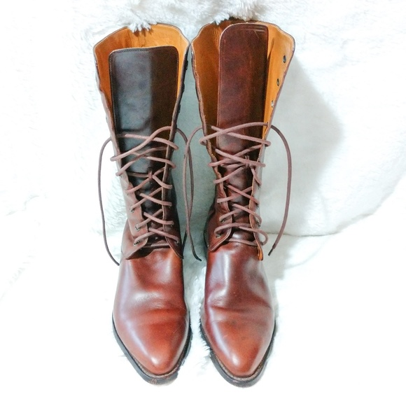 Cole Haan Vintage Leather Tall Lace Up